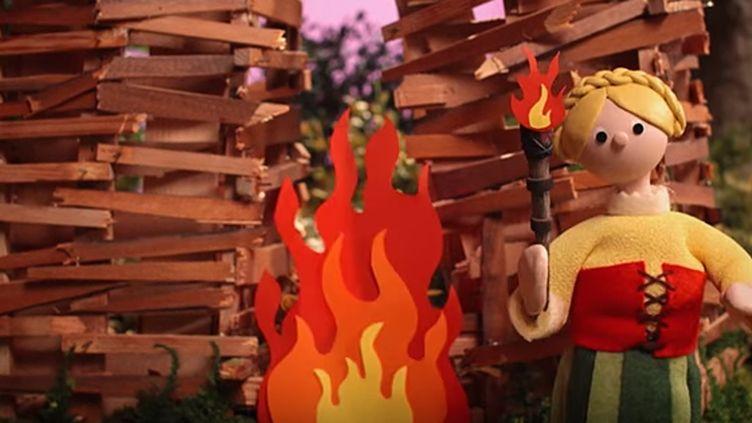 """Extrait du clip de """"Burn the Witch"""" de Radiohead.  (saisie écran)"""