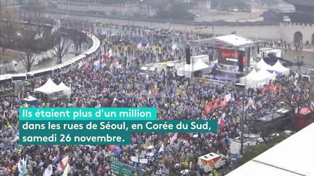 Corée du Sud : un million de manifestants contre la présidente