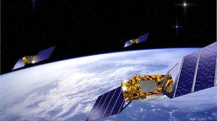 Une trentaine de satellites permettront à Galileo d'être pleinement opérationnelen 2020 (vue d'artiste). (REUTERS)