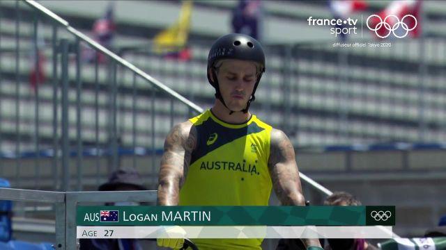 L'Australien Logan Martin, avec un passage noté 93.30 points, remporte le premier titre olympique de l'histoire du BMX FreestyleLe Français Anthony Jeanjean (78.20 pts) se classe septième.