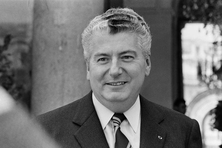 Hubert Germain, ministre des Postes et Télécommunication 1972. (- / AFP)