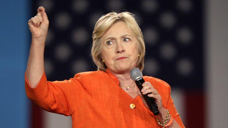 Hillary Clinton en meeting àKissimmee (Floride), le 8 août 2016. (GREGG NEWTON / AFP)