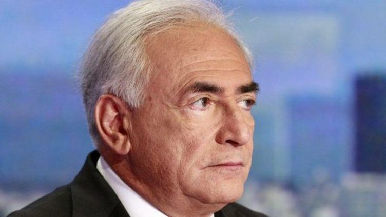 Dominique Strauss-Kahn sur TF1, le 18 septembre 2011. (FRANCOIS GUILLOT / POOL / AFP)