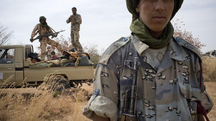 Des rebelles touareg du MNLA. (FERHAT BOUDA / DPA / MAXPPP )