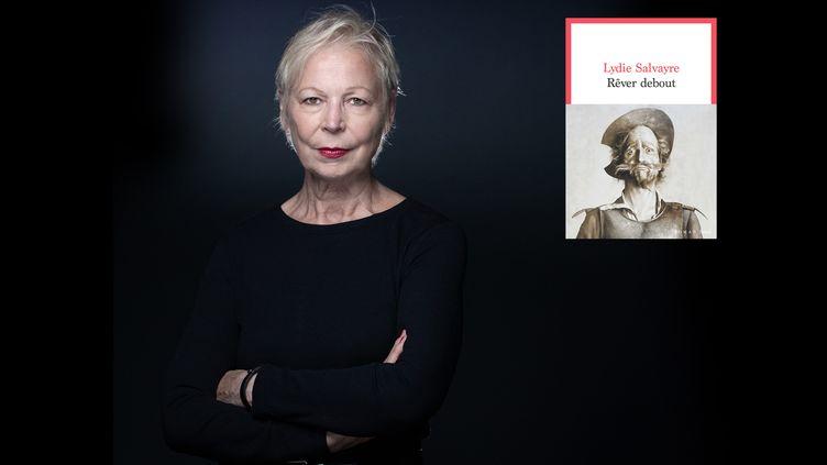"""Portrait de la romancière Lydie Salvayre, 30 août 2021, couverture de """"Rêver debout"""", Seuil, 2021 (JOEL SAGET / AFP)"""