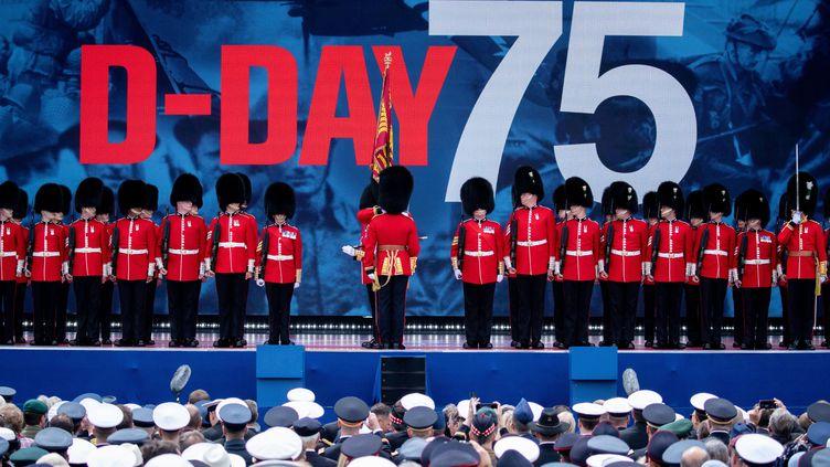 L'armée britannique lors des célébrations du 75e anniversaire du Débarquement à Portsmouth (Royaume-Uni), le 5 juin 2019. (KAY NIETFELD / DPA)