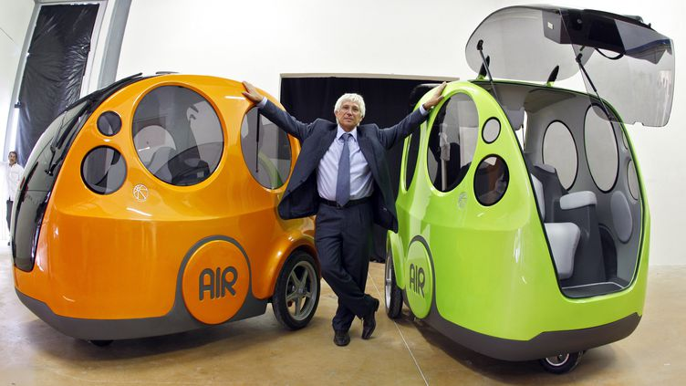 L'AirPod a été présenté à Lille (Nord) jeudi 3 mai par son concepteur, un ingénieur aéronautique et motoriste français de 70 ans - Nice 9 octobre 2008 (VALERY HACHE / AFP)