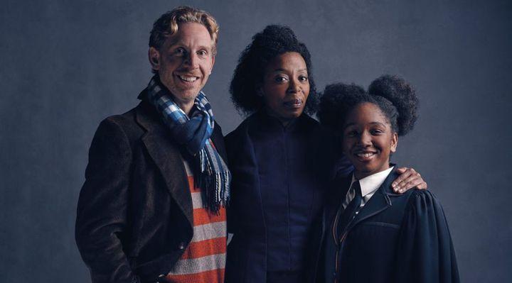 Paul Thornley (Ron Weasley),Cherrelle Skeete (Rose Granger-Weasley),Noma Dumezweni (Hermione Granger)  (Pottermore)