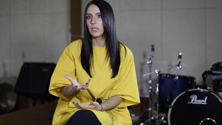 La chanteuse Jamala le 18 février 2016 lors d'une répétion  (ANATOLII STEPANOV / AFP)