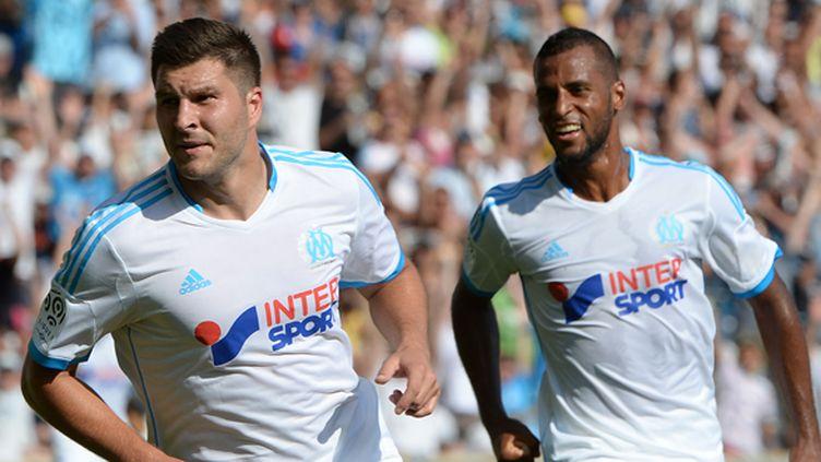 Gignac et Romao. (OM) (BORIS HORVAT / AFP)