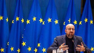 Le président du Conseil européen Charles Michel, à Bruxelles (Belgique), le 20 octobre 2021. (OLIVIER MATTHYS / POOL / AFP)