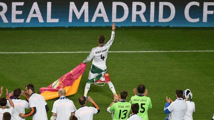 """""""Nous méritions depuis tant d'années de savourer une telle victoire"""", a lancé Sergio Ramos (FRANCISCO LEONG / AFP)"""
