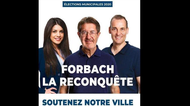 L'affiche de la liste RN pour les élections municipales avec, sur la gauche de l'image, l'incrustation d'une photo de l'ItalienneMaria Falconieri issue d'une banque d'images. (DR)