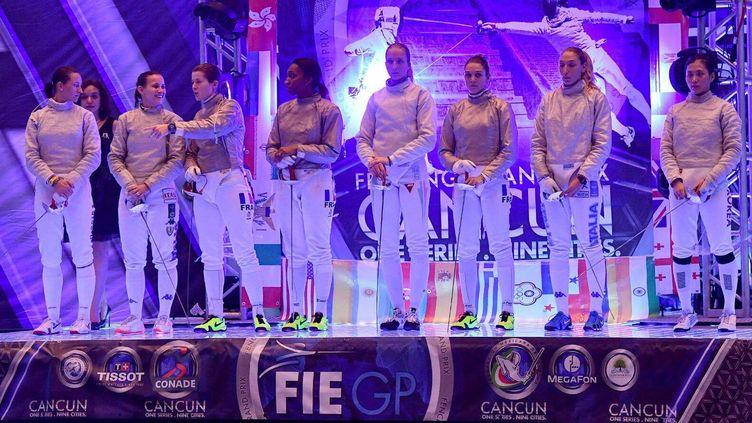 Rassemblement des athlètes finalistes lors du Grand Prix de Cancun de 2016 (BIZZI TEAM)