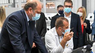 Le ministre de la Justice,Eric Dupond-Moretti, le 19 juillet 2021 à Beauvais. (DENIS CHARLET / AFP)