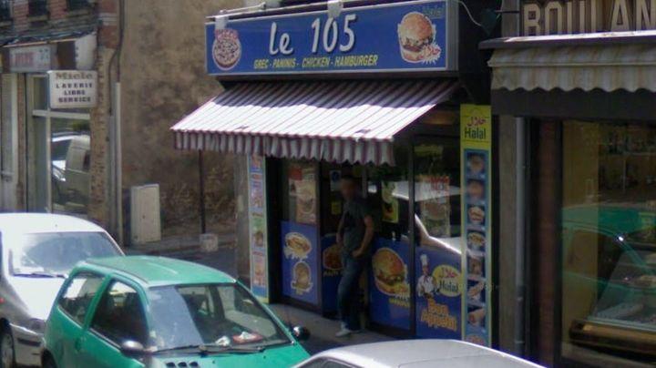 """La sandwicherie """"Le 105"""", photographiée à Aubervilliers (Seine-Saint-Denis) par le service Google Street View en juin 2008. (GOOGLE STREET VIEW)"""