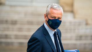 Le ministre de l'Economie et des Finances, Bruno Le Maire, le 23 juin 2021 à l'Elysée, à Paris. (XOSE BOUZAS / HANS LUCAS / AFP)