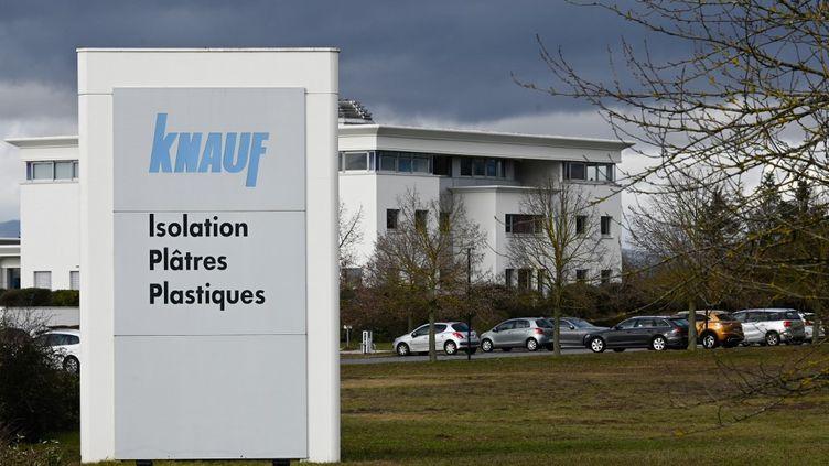 L'entreprise Knauf àWolfgantzen, dans le Haut-Rhin, le 29 janvier 2021. (SEBASTIEN BOZON / AFP)