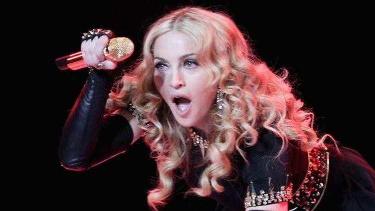 Madonna joue à la mi-temps du Super Bowl en février 2012.  (Ezra Shaw/ Getty Images North America / AFP)