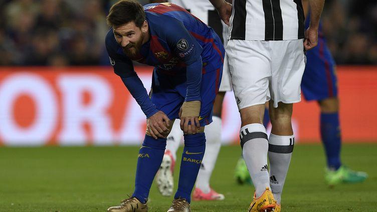 Lionel Messi n'a pas réussi à trouver la faille contre la Juventus (LLUIS GENE / AFP)