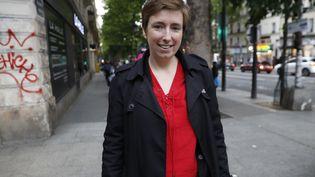 La militante Caroline de Haas, à Paris, le 12 mai 2017. (PATRICK KOVARIK / AFP)