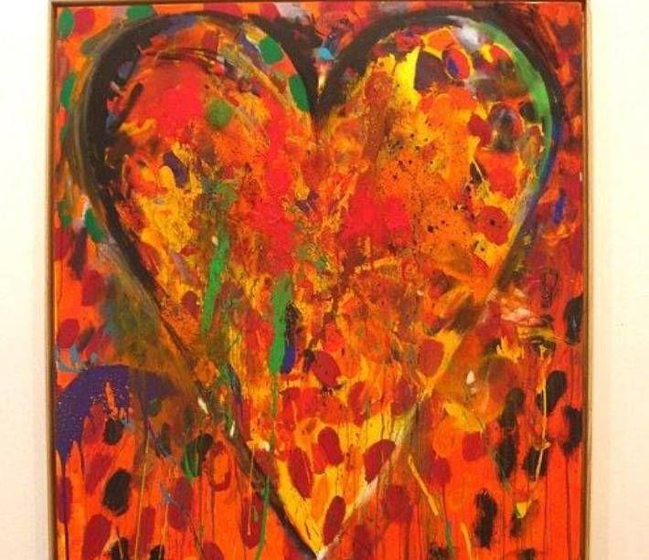 Au fil du temps le coeur coloré deviendra la signature de Jim Dine  (DR)