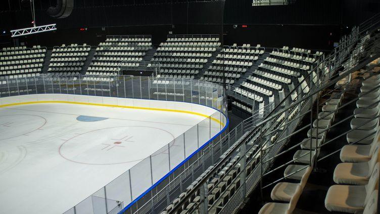 La patinoire Aren'Ice et centre national du hockey sur glace àCergy-Pontoise, le 25 Octobre 2016 (photo d'illustration). (BRUNO LEVESQUE / MAXPPP)