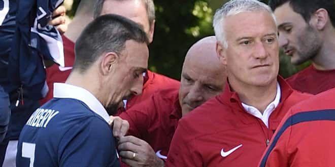 Franck Ribéry et son sélectionneur Didier Deschamps