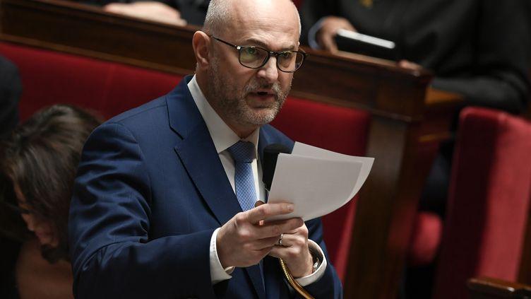 Le secrétaire d'Etat chargé des retraites, LaurentPietraszewski, le 11 février 2020 à l'Assemblée nationale, à Paris. (PHILIPPE LOPEZ / AFP)