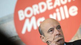 Alain Juppé, à Bordeaux, présente ses voeux à la presse pour l'année 2011. (JEAN-PIERRE MULLER / AFP)
