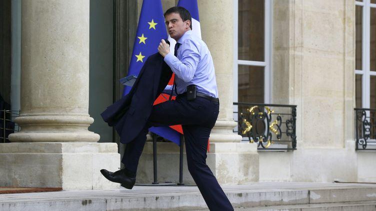 Le Premier ministre, Manuel Valls, à son arrivée à l'Elysée, le 26 mai 2014. (FRANCOIS GUILLOT / AFP)