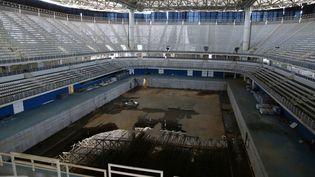 Le bassin de natationutilisé pour les Jeux olympiques de Rio, le 5 février 2017. (PILAR OLIVARES / REUTERS)