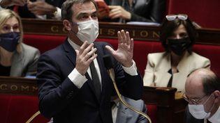 Olivier Véran à l'Assemblée nationale (Paris), le 26 octobre 2021. (GEOFFROY VAN DER HASSELT / AFP)