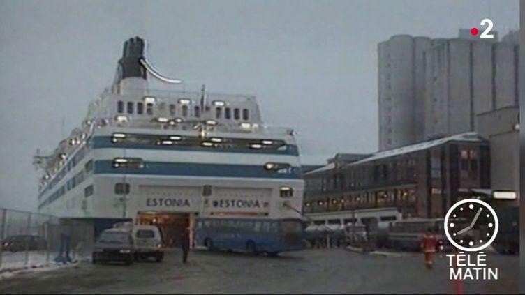 L'Estonia, avant son naufrage. (France 2)