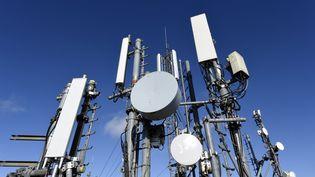 Relais et antennes de téléphonie mobile à Nancy (Meurthe-et-Moselle). (MAXPPP)