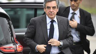 François Fillon, candidat à l'élection présidentielle, lors d'un déplacement à Meaux (Seine-et-Marne), le 27 février 2017. (LIONEL BONAVENTURE / AFP)