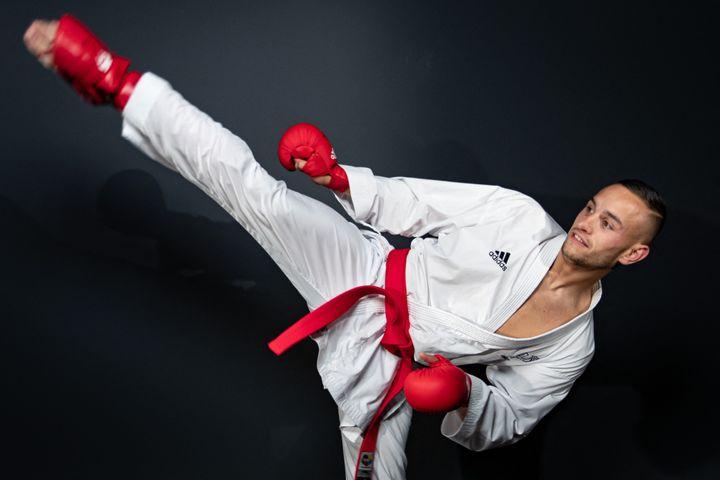 Il campione francese di karate Stephen Da Costa sarà a Tokyo per le Olimpiadi.    (GEOFFROY VAN DER HASSELT / AFP)