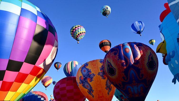 Envol de montgolfières à Albuquerque le 9 octobre 2019 (Jean-Claude Desjacques)