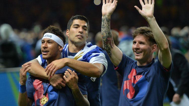 Le trio MSN et le Barça partent à la reconquête de leur trophée européen (OLIVER LANG / AFP)