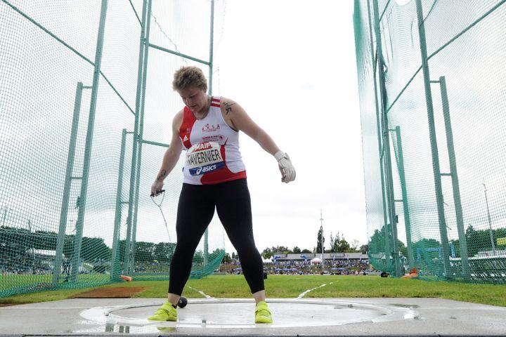Alexandra Tavernier lors des championnats de France Élite, le 27 juin à Angers (HERVIO JEAN-MARIE / KMSP / AFP)