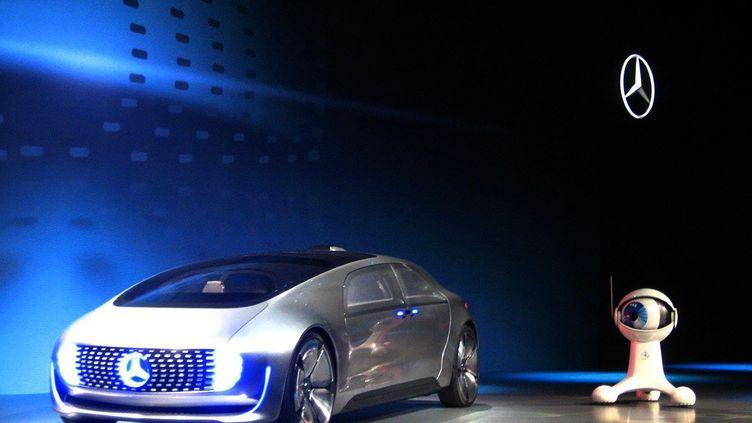 La Mercedes-Benz F 015 présentéeà la veille de l'ouverture à Las Vegas (Etats-Unis) du salon international d'électronique grand public CES, le 5 janvier 2015. (SOPHIE ESTIENNE / AFP)