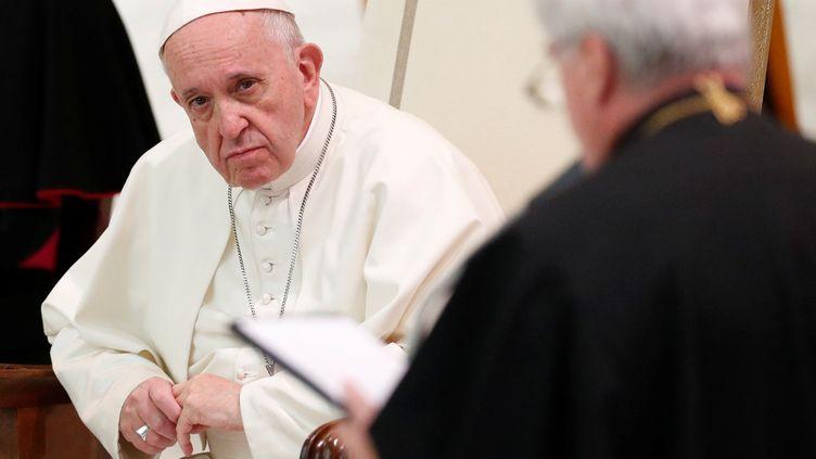 Le pape François, le 6 octobre 2018, au Vatican. (ALESSANDRO BIANCHI / REUTERS)