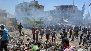 Un attentat a fait au moins 44 morts à Qamichli (Syrie), mercredi 27 juillet. (RODI SAID / REUTERS)