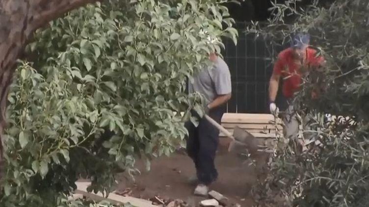 Dans une somptueuse demeure située dans un parc du Vatican, des restes humains ont été retrouvés par des ouvriers qui réalisaient des travaux. (CAPTURE D'ÉCRAN FRANCE 3)