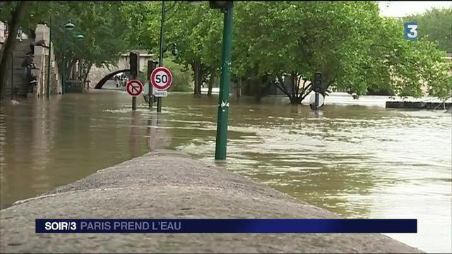 Certains quartiers de Paris ont pris l'eau