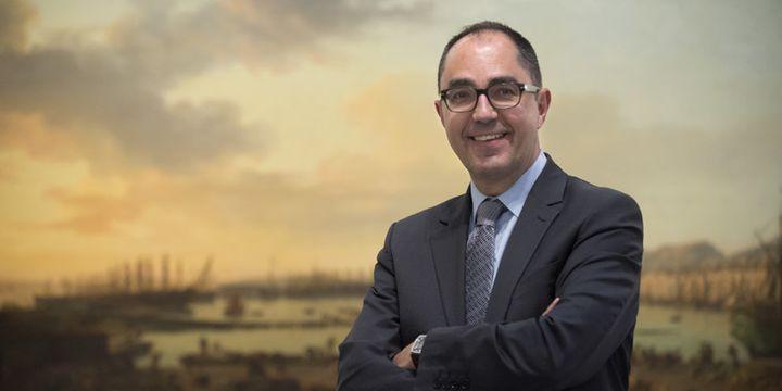 Jean-Luc Martinez, président-directeur du Louvre, le 4 mai 2016 à Liège  (John Thys / AFP)