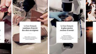 Campagne de publicité du Comité Colbert lancée en mars 2021 pour défendre l'ancrage territorial du luxe, son savoir-faire français et ses milliers d'emplois. (Comité Colbert)