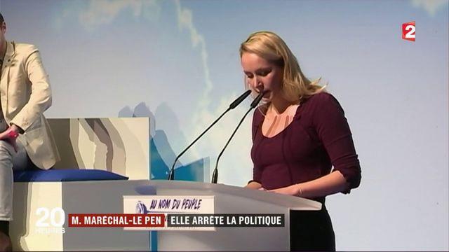 Marion Maréchal-Le Pen : elle arrête la politique