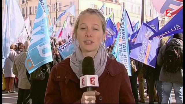 Mobilisation des fonctionnaires devant Bercy