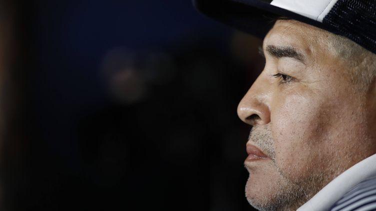 Diego Maradona, en mars 2020. (NATACHA PISARENKO/AP/SIPA / SIPA)